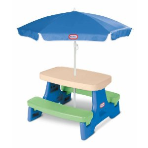 Mesa Picnic Guarda-Sol 4 lugares | Little Tikes