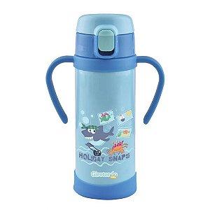 Garrafa Térmica Inox Canudo Azul | Girotondo