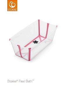 Banheira Flexi Bath Transparente Rosa| Stokke