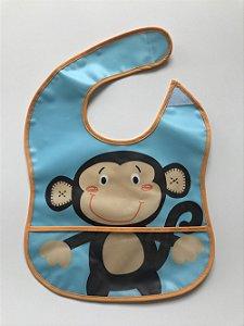 Babador Impermeável com Cata-Migalha Amigo Macaco | Girotondo