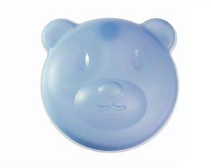 Prato Térmico Urso com Ventosa e Tampa Azul   Girotondo