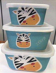 Kit 3 Potes Zebra ECO | Girotondo