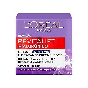 Creme Facial Loreal Revitalift Hialuronico Noturno 49Gr