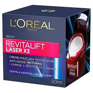 Creme Facial Loreal Revitalift Laser X3 Noturno 50Ml