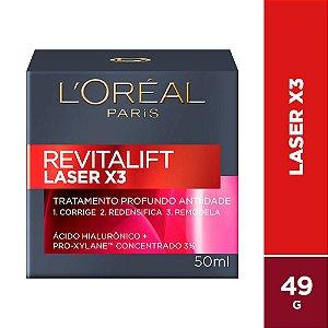 Creme Facial Loreal Revitalift Laser X3 Diurno 50Ml