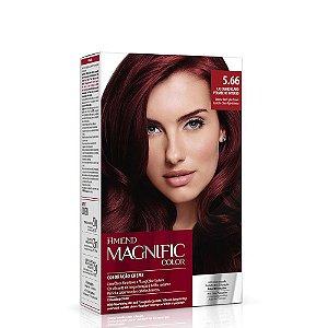 Coloração Amend Magnific Color 5.66 Castanho Claro Vermelho Intenso