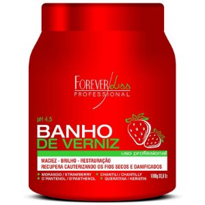 Forever Liss Banho de Verniz Morango Máscara 1kg