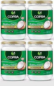 Óleo de Coco Extra Virgem Copra Kit 4x500ml