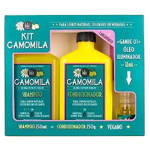 Lola Kit Camomila Shampoo 250ml + Condicionador 250ml + Óleo Iluminador 12ml