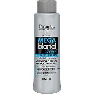 Máscara Matizadora Forever Liss Mega Blond Black 500Ml