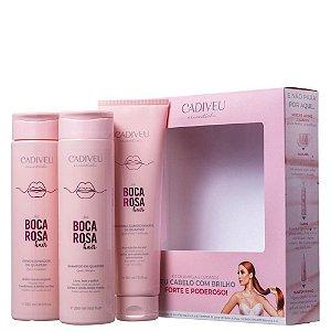 Kit Cadiveu Boca Rosa Quartzo Shampoo 250ml +Condicionador 250ml +Proteina 150ml