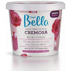 Cera Cremosa Depil Bella Micro-Ondas Pétalas de Rosas 100G