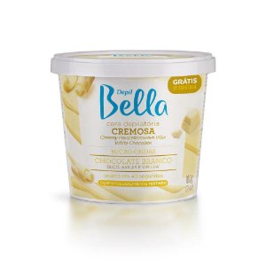 Cera Cremosa Depil Bella Micro-Ondas Chocolate Branco 100Gr