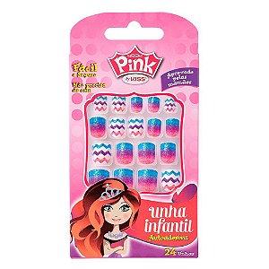 Unhas Kiss Pink Infantil Rainbow Pink 7 PSP03BR