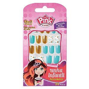 Unhas Kiss Pink Infantil Sweetness Pink 5 PBG03BR