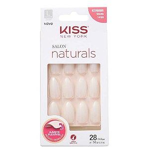 Unhas Kiss Salon Natural Longo Estileto KSN06BR