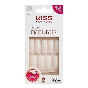 Unhas Kiss Salon Natural Longo Quadrado KSN04BR
