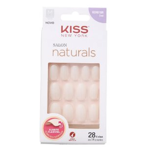 Unhas Kiss Salon Natural Medio Oval KSN01BR