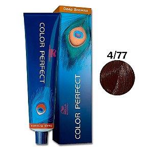 Coloração Wella Color Perfect 4/77 Castanho Médio Marrom Intenso