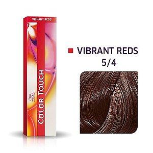 Tonalizante Wella Color Touch Vibrant Reds 5/4 60g Castanho Claro Avermelhado