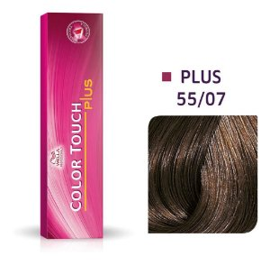Tonalizante Wella Color Touch Plus 55/07 60g Castanho Claro Intenso Natural Marrom