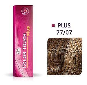 Tonalizante Wella Color Touch Plus 77/07 60g Louro Médio Intenso Natural Marrom
