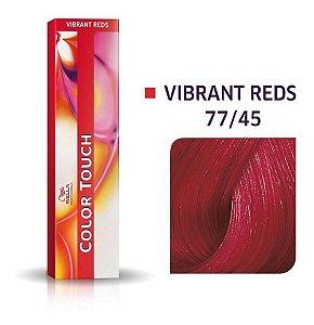Tonalizante Wella Color Touch Vibrant Reds 77/45 60g Louro Médio Intenso Vermelho Acaju