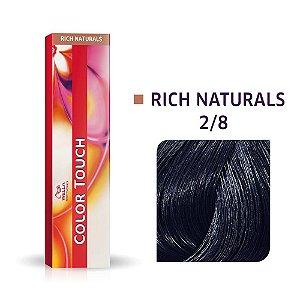 Tonalizante Wella Color Touch 2/8 60gr Preto Azulado