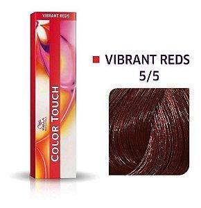 Tonalizante Wella Color Touch Vibrant Reds 5/5 60g Castanho Claro Acajú