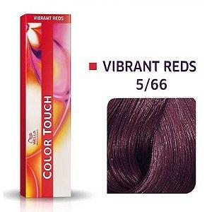 Tonalizante Wella Color Touch Vibrant Reds 5/66 60g Castanho Claro Violeta Intenso