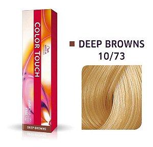 Tonalizante Wella Color Touch 10/73 60gr Louro Claríssimo Marrom Dourado