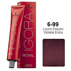 Coloração Schwarzkopf Igora 6-99 Louro Escuro Violeta Extra