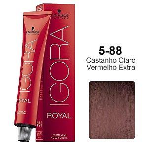 Coloração Schwarzkopf Igora 5-88 Castanho Claro Vermelho Extra