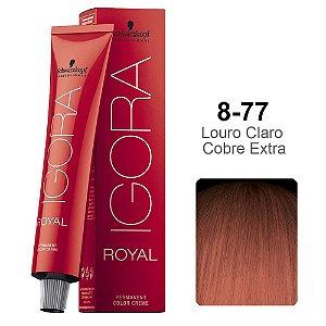 Coloração Schwarzkopf Igora 8-77 Louro Claro Cobre Extra