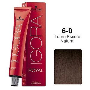 Coloração Schwarzkopf Igora 6-0 Louro Escuro Natural
