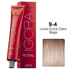 Coloração Schwarzkopf Igora 9-4 Louro Extra Claro Bege