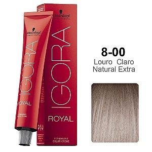 Coloração Schwarzkopf Igora 8-00 Louro Claro Natural Extra