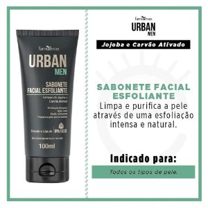 Sabonete Facial Esfoliante Urban Men 100Ml