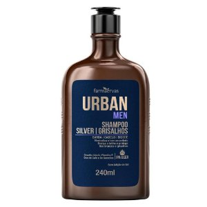 Shampoo Silver Grisalhos Urban Men  240Ml