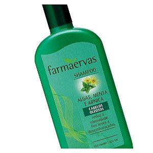 Shampoo Farmaervas Algas Menta E Arnica 320Ml
