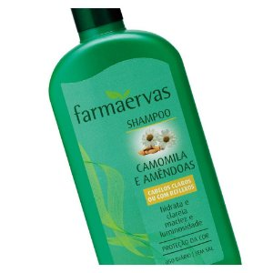 Shampoo Farmaervas Camomila E Amendoas 320Ml
