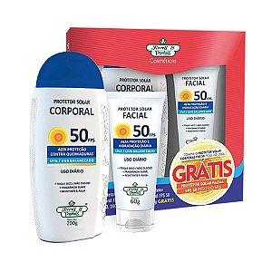 Kit Protetor Solar Corp+Facial Flores & Vegetais Fps50