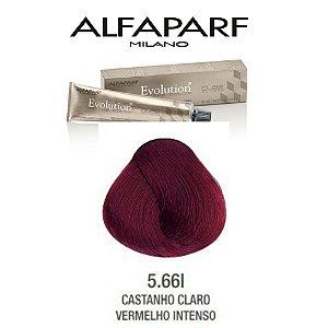 Coloração Alfaparf Evolution 5.66I Castanho Claro Vermelho Intenso