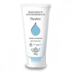 Desodorante Antitranspirante Flores & Vegetais Neutro 60gr