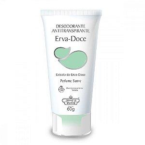 Desodorante Antitranspirante Flores & Vegetais Erva Doce 60gr