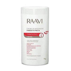 Creme De Massagem Raavi Pimenta Preta 1 Kilo
