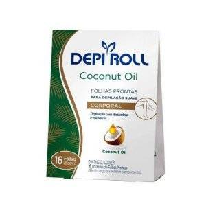 Folhas Prontas Depi Roll Corporal Oleo De Coco C/16