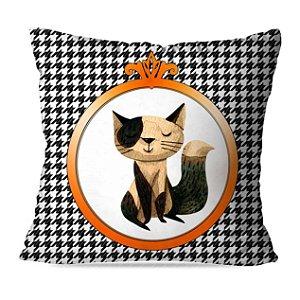 Almofada gatinho xadrez