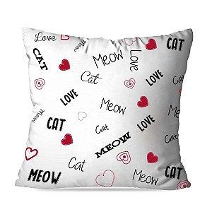 Almofada meow love
