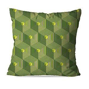 Almofada geométrica verde